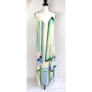 Anthropologie Maeve Geometric Maxi Dress